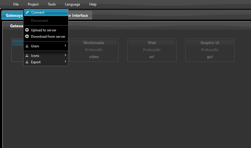 How to connect to the Home automation server through the Home automation configuration software EVE Manager
