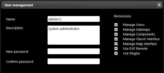 How to set up a duplicated Administrator user from the Home automation configuration software EVE Manager