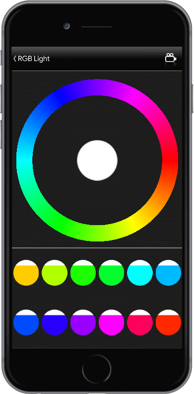 RGB Light colour selector inside the Automa
