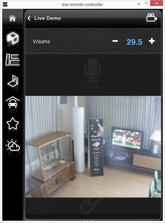Changeable value inside the classic user interface in the Home automation app EVE Remote plus