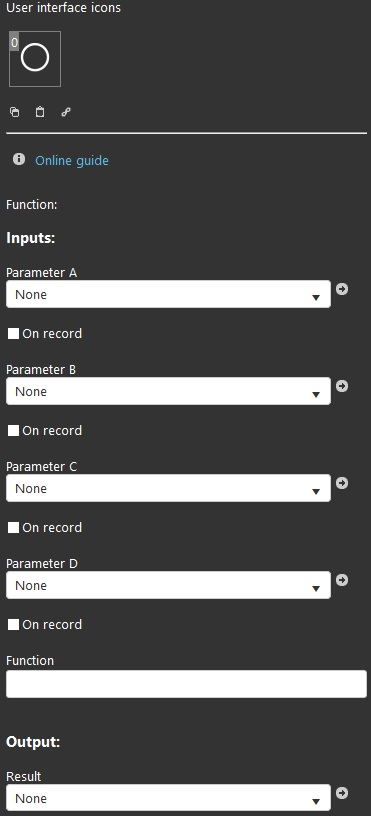 Calculator component properties inside the Home automation softawre EVE Manager