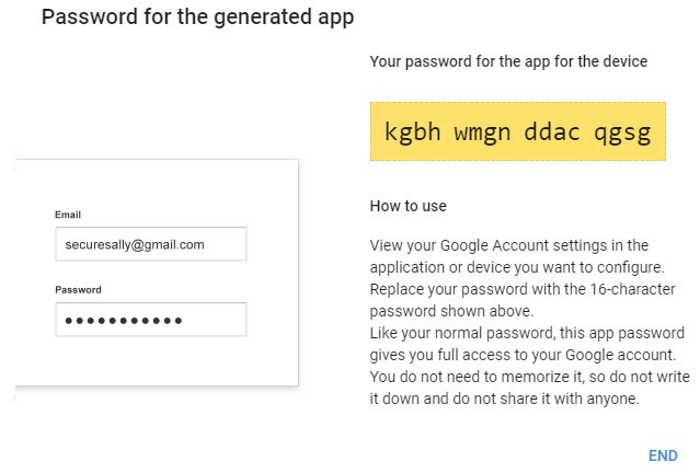 Creating the crypted password for the email account