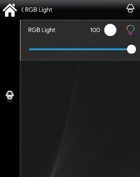 RGB light component in the classic view mode inside the  Home automationApp  EVE Remote Plus