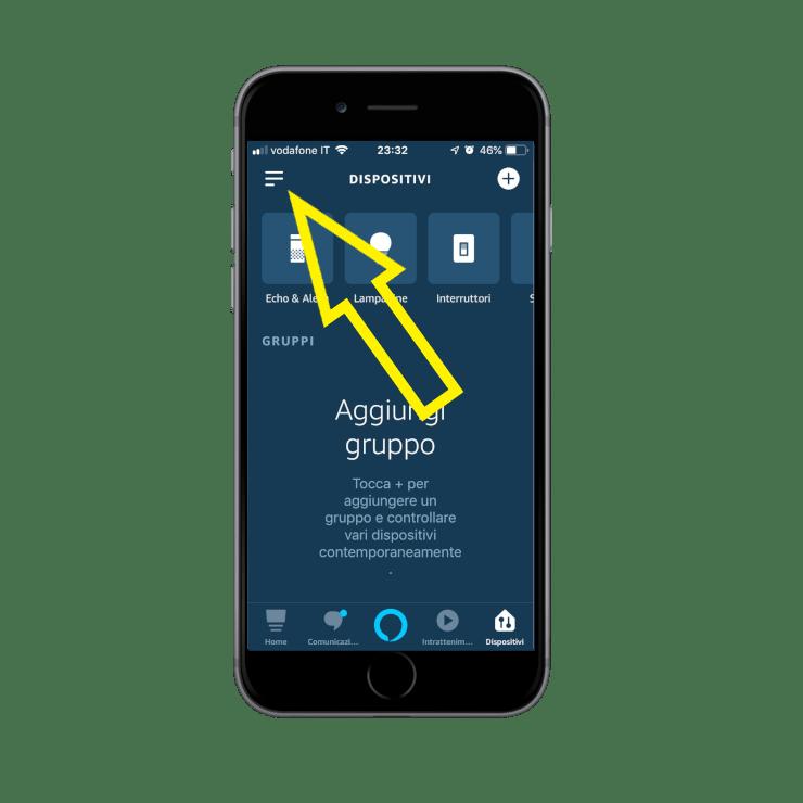 How to add the skill Ilevia smart home inside the Amazon Alexa voice assistant app | Skill menù