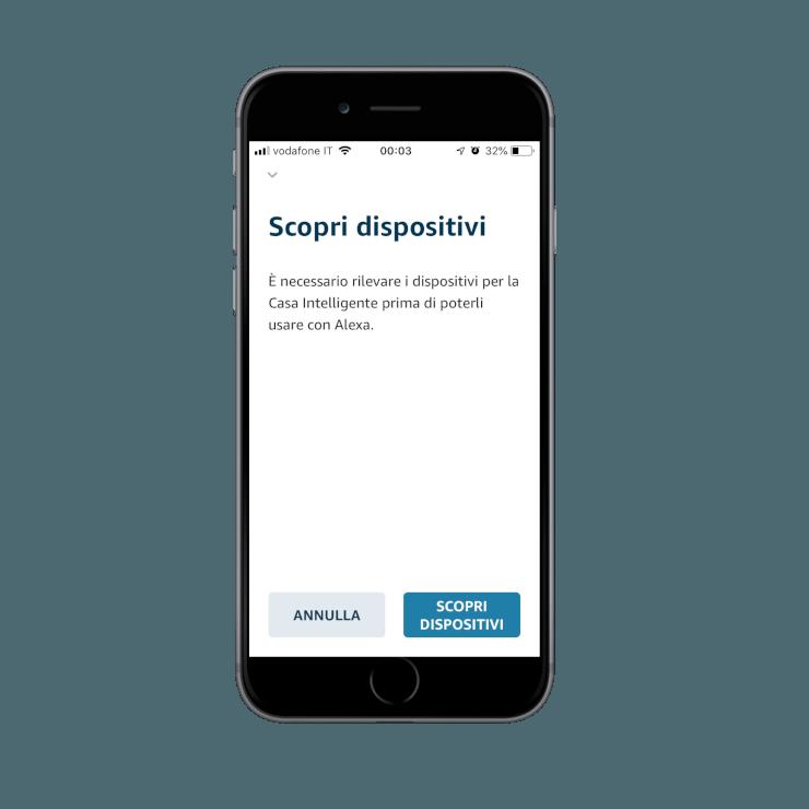 Come aggiungere la skill Ilevia smart home nell'applicazione dell'assistente vocale Amazon Alexa |
