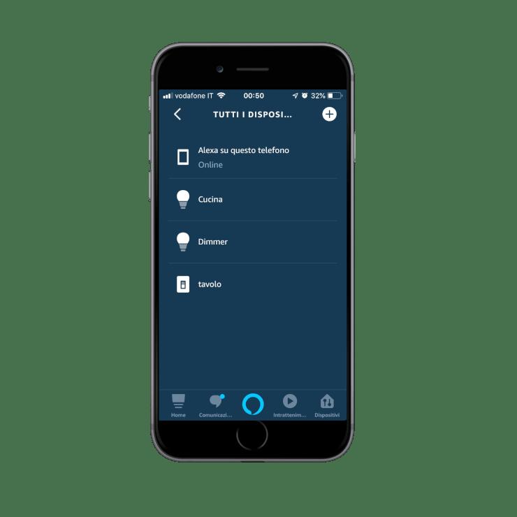 Come aggiungere nuovi dispositivi nell'app Voice Assistant Amazon Alexa | Lista dispositivi ritrovati