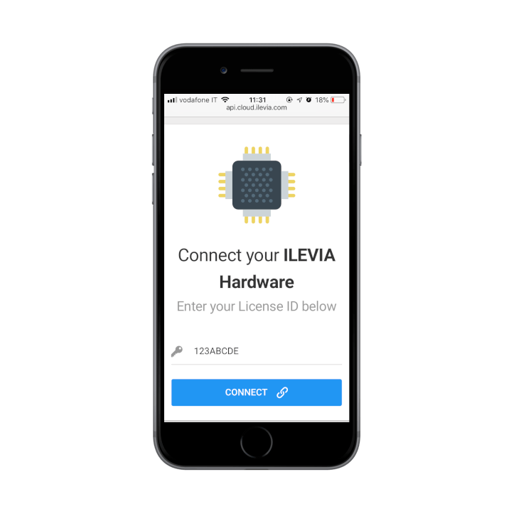How to connect a new Ilevia server inside the Ilevia cloud | Inesrting the License ID