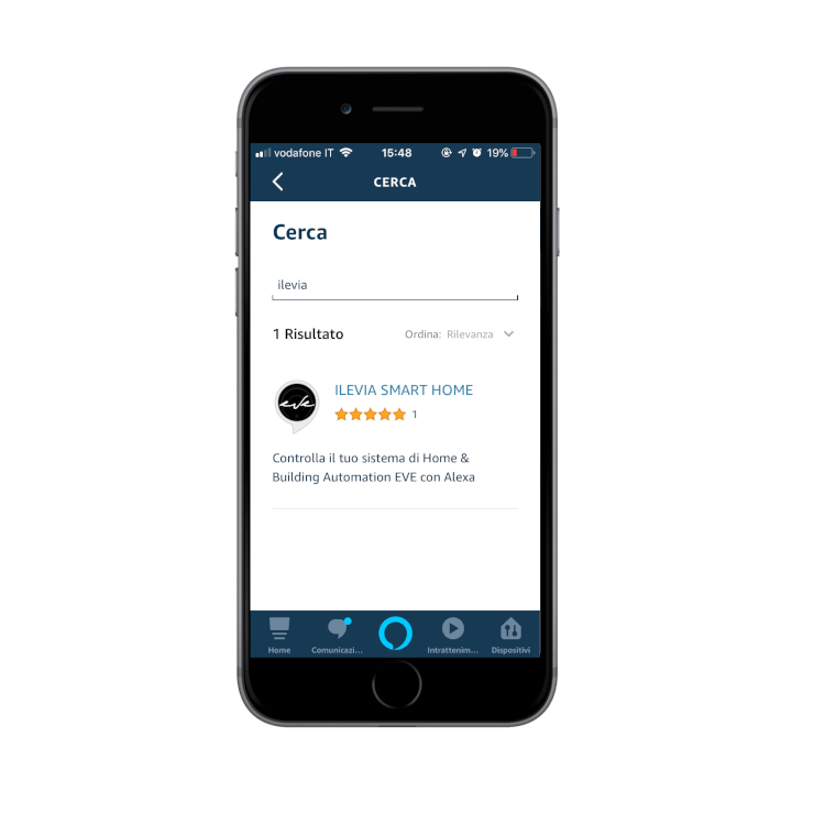 Loging in into the Amazon Alexa Voice assistant App | Skill Ilevia smart home found