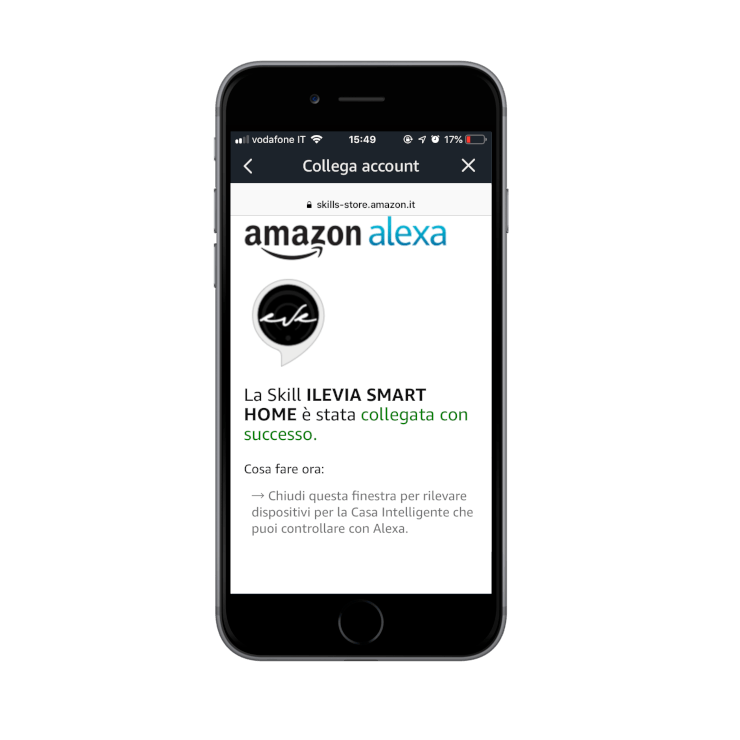 Loging in into the Amazon Alexa Voice assistant App | skill link confirmation