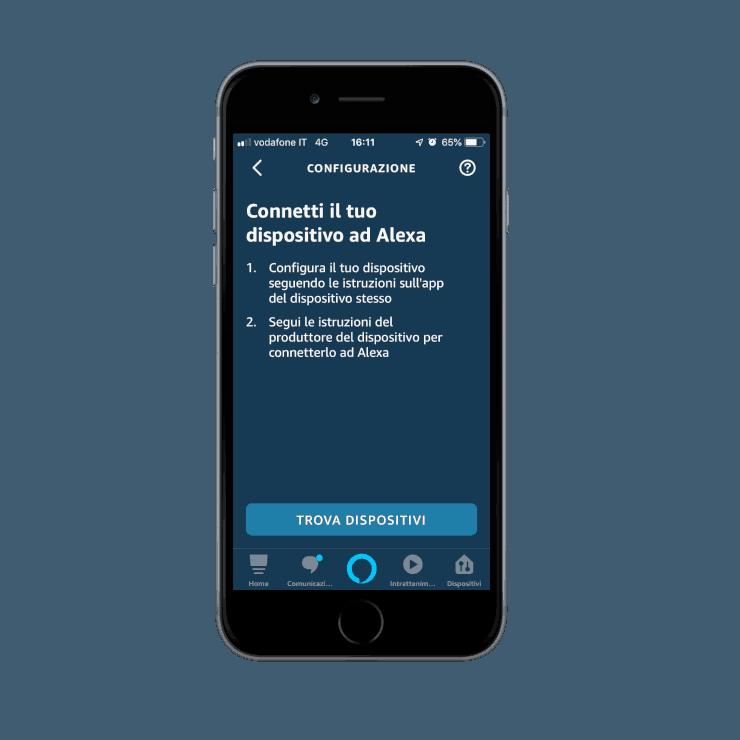 Come aggiungere nuovi dispositivi nell'app Voice Assistant Amazon Alexa | Ricerca dispositivi