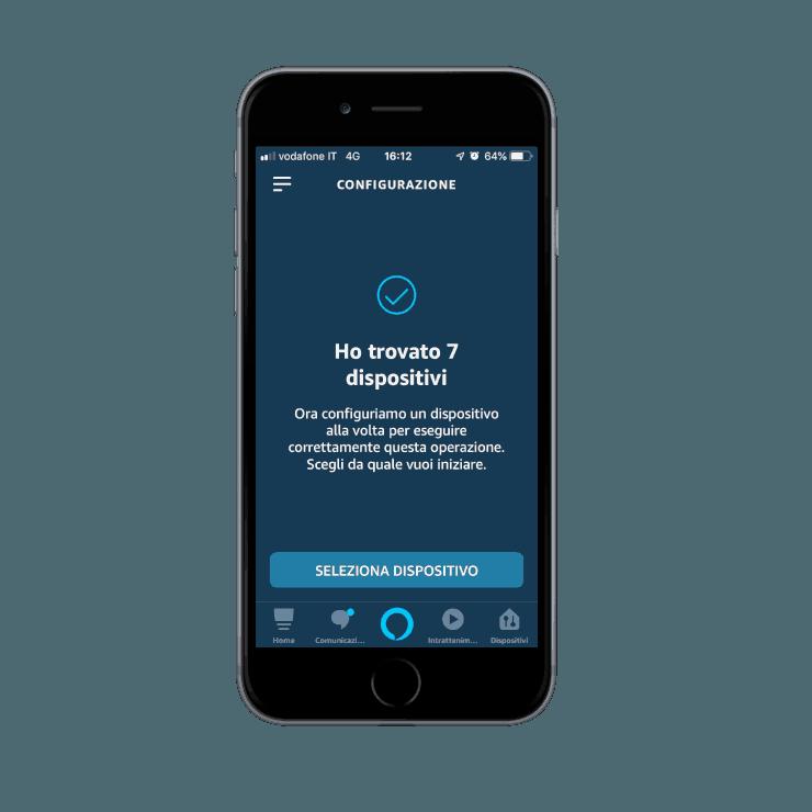 Come aggiungere la skill Ilevia smart home nell'applicazione dell'assistente vocale Amazon Alexa |ricerca dispositivi