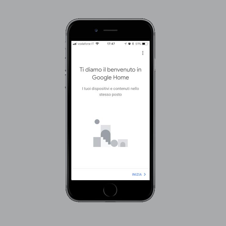 Creazione Casa all'interno dell'applicazione dell'assistente vocale Google