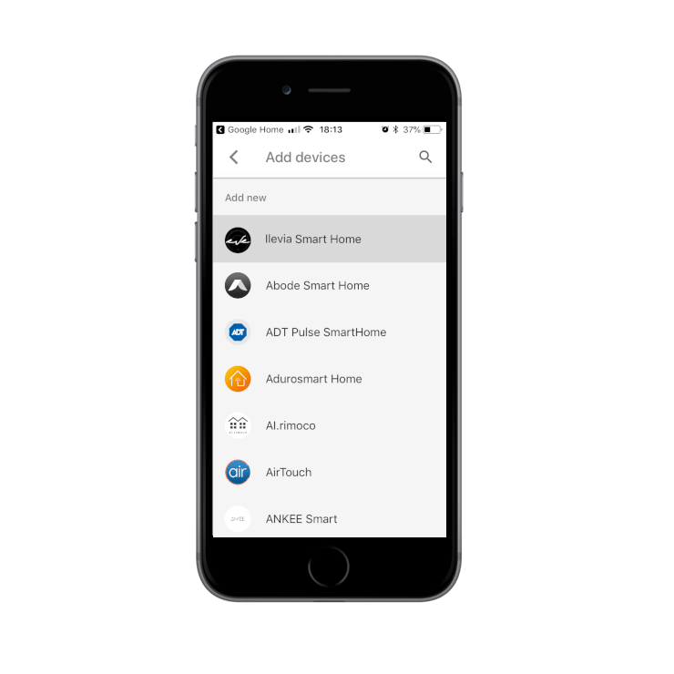 How to add the Ilevia Smart Home skill inside the Voice assisntant app Google Home