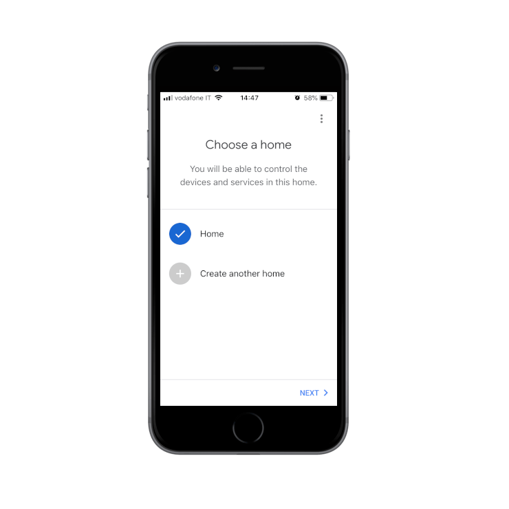 Creating the new house inside the Google Home application