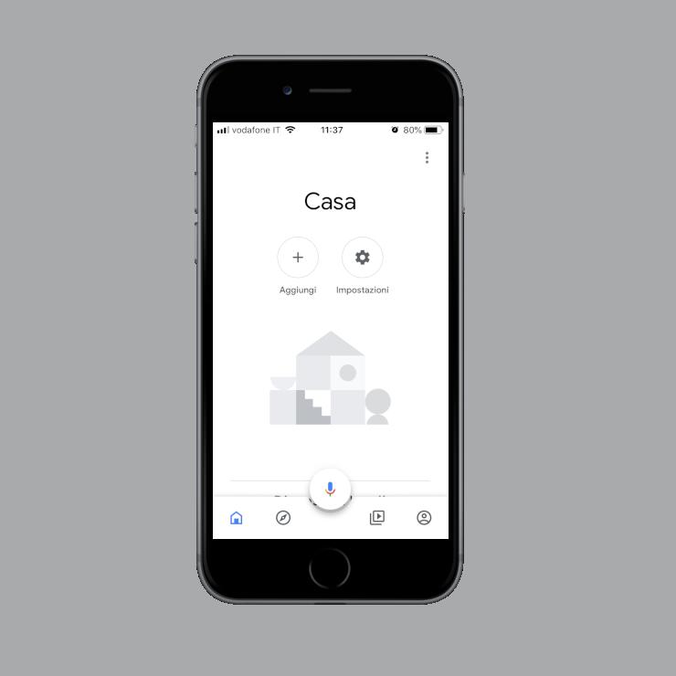 Come aggiungere nuovi dispositivi all'interno dell'applicazione dell'assistente vocale Google