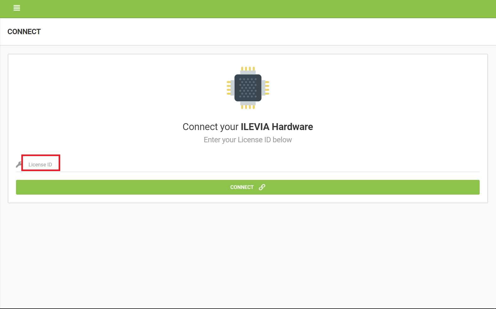 how to link the server license ID to Ilevia cloud