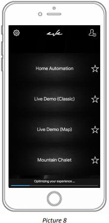Home autmation app account access