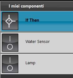 Componenti per completamento delle logiche del componente If Then all'interno del software di configurazione domotica EVE Manager