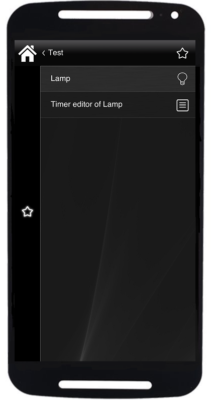 Selecting a device where the timer editor component has been added