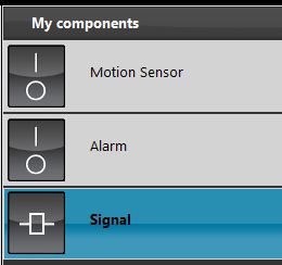 How to set up completly the Signal component inside the configuration software EVE Manager
