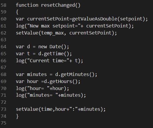 Cosa farà la funzione Reset changed una volta attivata all'esecuzione dello script