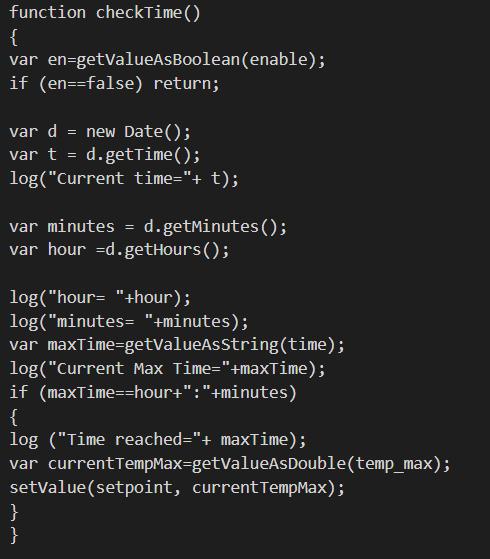 Cosa farà la funzione function checktime una volta attivata all'esecuzione dello script