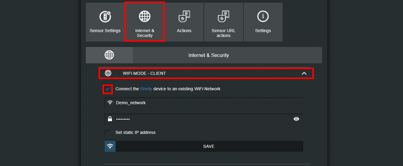 How to connect your shelly device to your wifi network