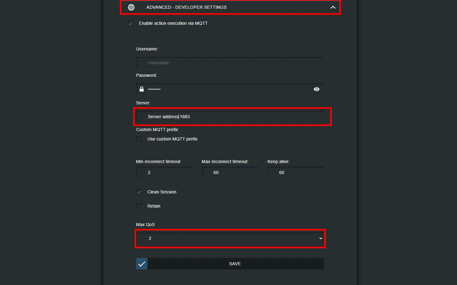 Come abilitare il protocollo MQTT all'interno dell'interfaccia web del dispositivo shelly