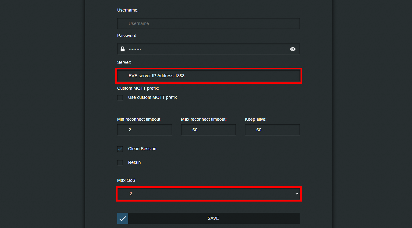 How to set up the MQTT protocol settings inside the shelly i3's web interface