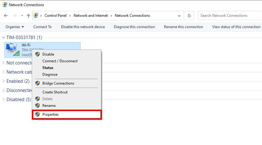 How to enter the newtwork adapter settings in order to set the IP of your PC