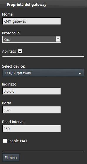 How to configure the KNX protocol inside Home autoamtion configuration software EVE Manager